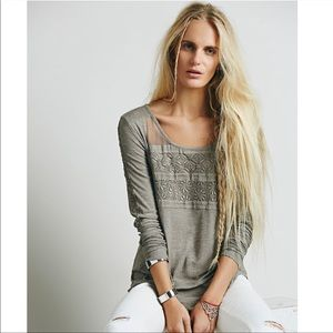 Free People New Romantics Gigi Long Sleeve Top